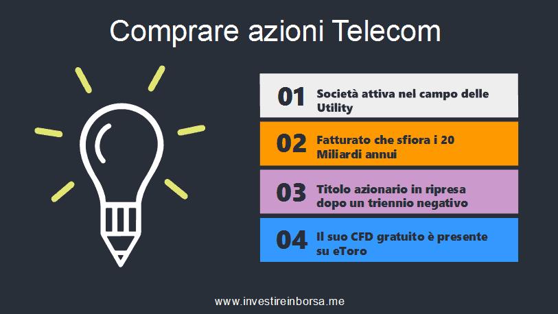 comprare azioni Telecom