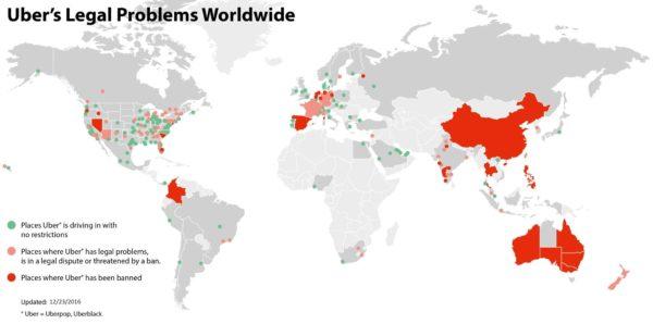 Uber e Problemi Legali in tutto il mondo