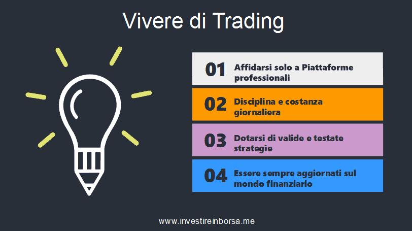 vivere di trading: i consigli