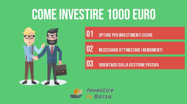 come investire 1000 euro