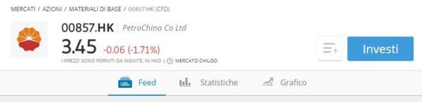 comprare azioni PetroChina eToro