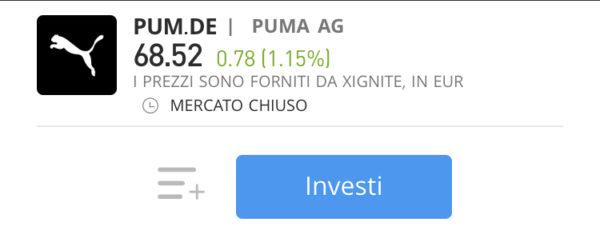 comprare azioni Puma