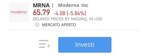 comprare azioni moderna