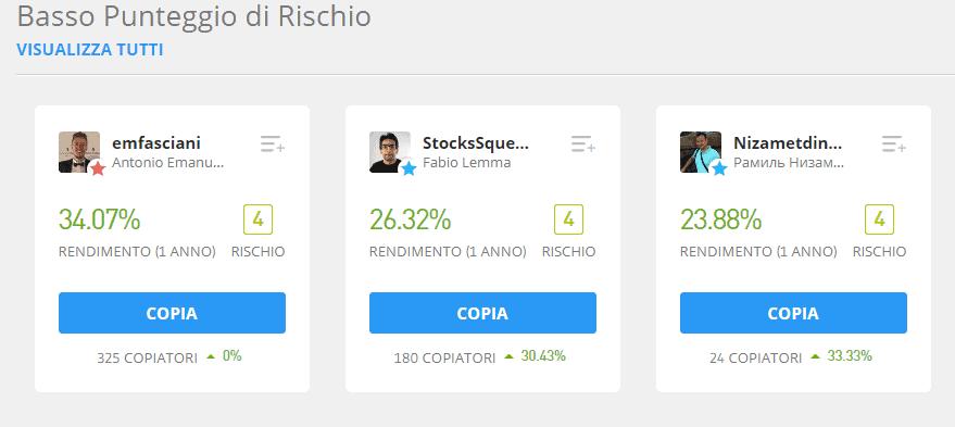migliori investitori su eToro