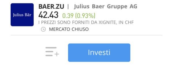 comprare azioni Julius Baer