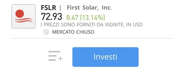 comprare azioni first solar con etoro