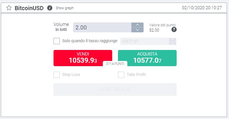 Broker criptovalute Bitcoin su ForexTB
