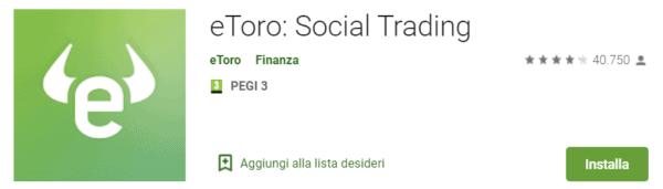 App Trading di eToro