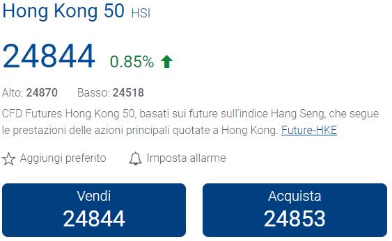 indici di borsa asiatici su plus500