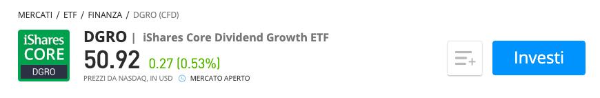 iShares Core Dividend Growth ETF etoro