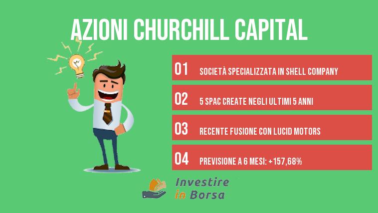 comprare azioni churchil capital info