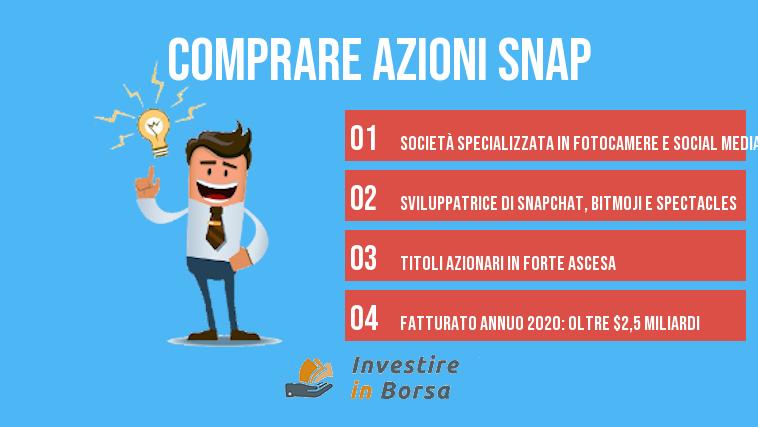 comprare azioni snap snapchat info
